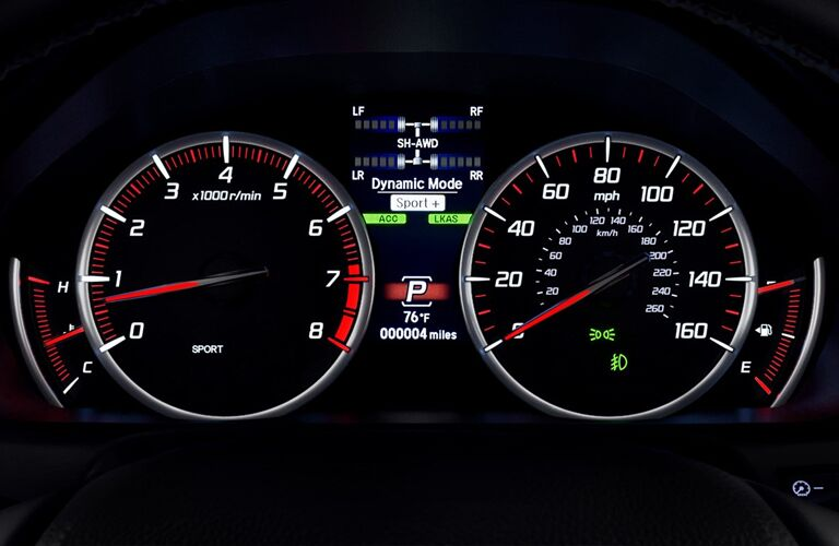 2019 Acura TLX driver gauges