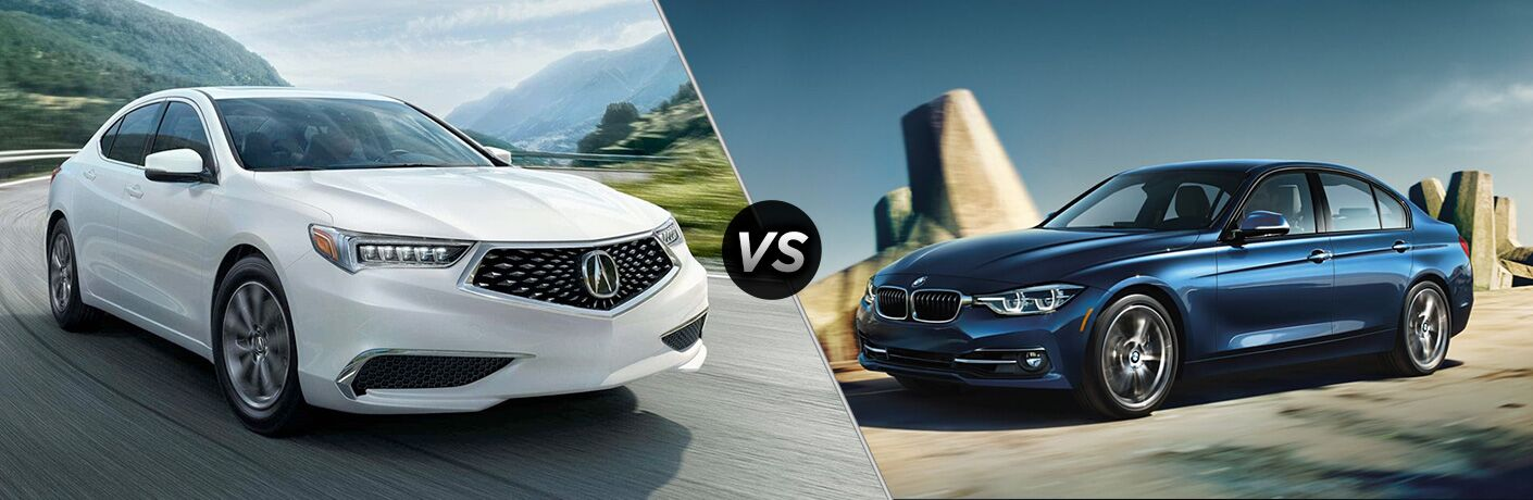 A side-by-side comparison of the 2018 Acura TLX vs. 2018 BMW 3 Series