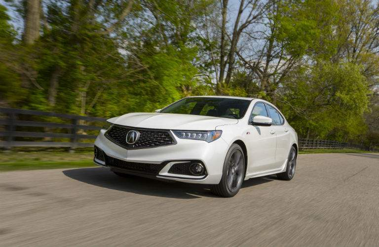 A front left quarter image of the 2018 Acura TLX