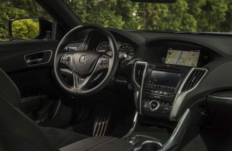 A look at the infotainment system and driver's cockpit of the 2018 Acura TLX