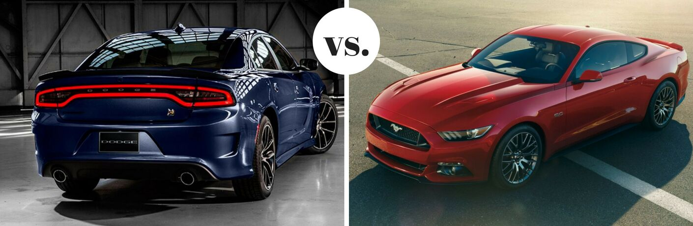 2017 Dodge Charger vs 2017 Ford Mustang