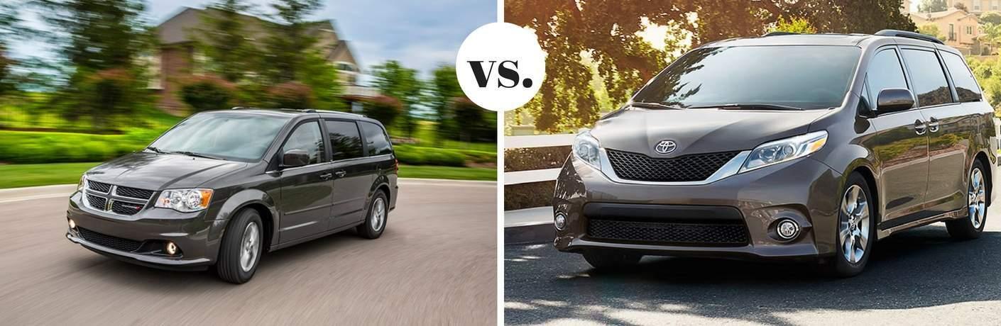 2017 Dodge Grand Caravan vs 2017 Toyota Sienna