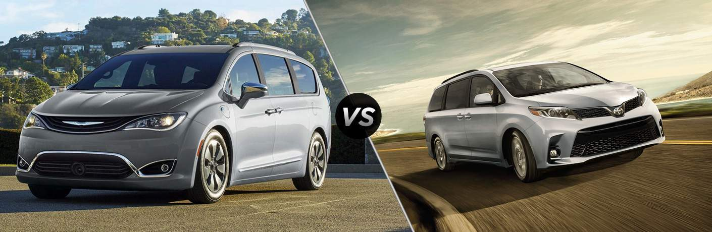 2018 chrysler pacifica and 2018 toyota sienna side by side