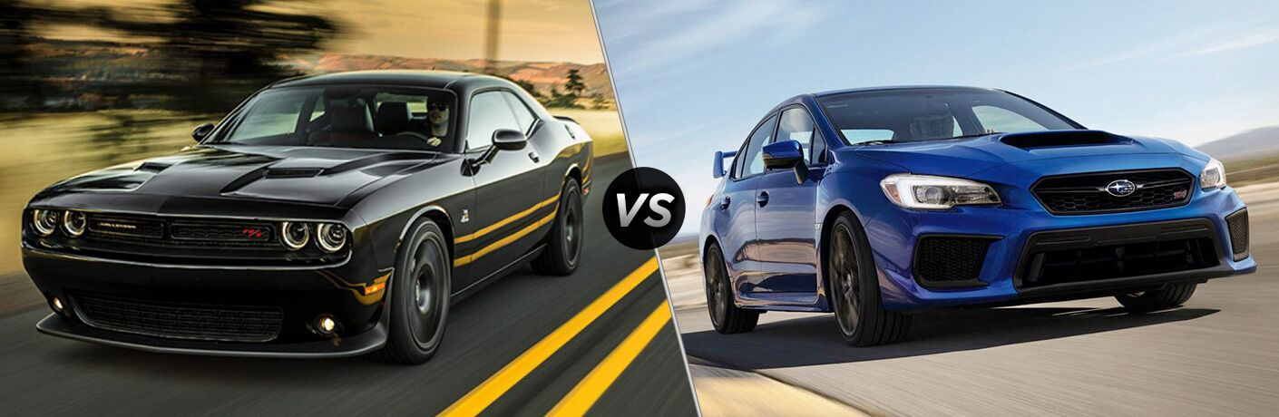 2018 Dodge Challenger vs 2018 Subaru WRX