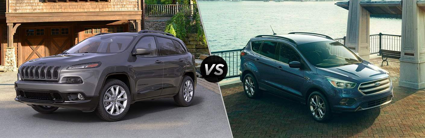 2018 jeep cherokee and 2018 ford escape side by side