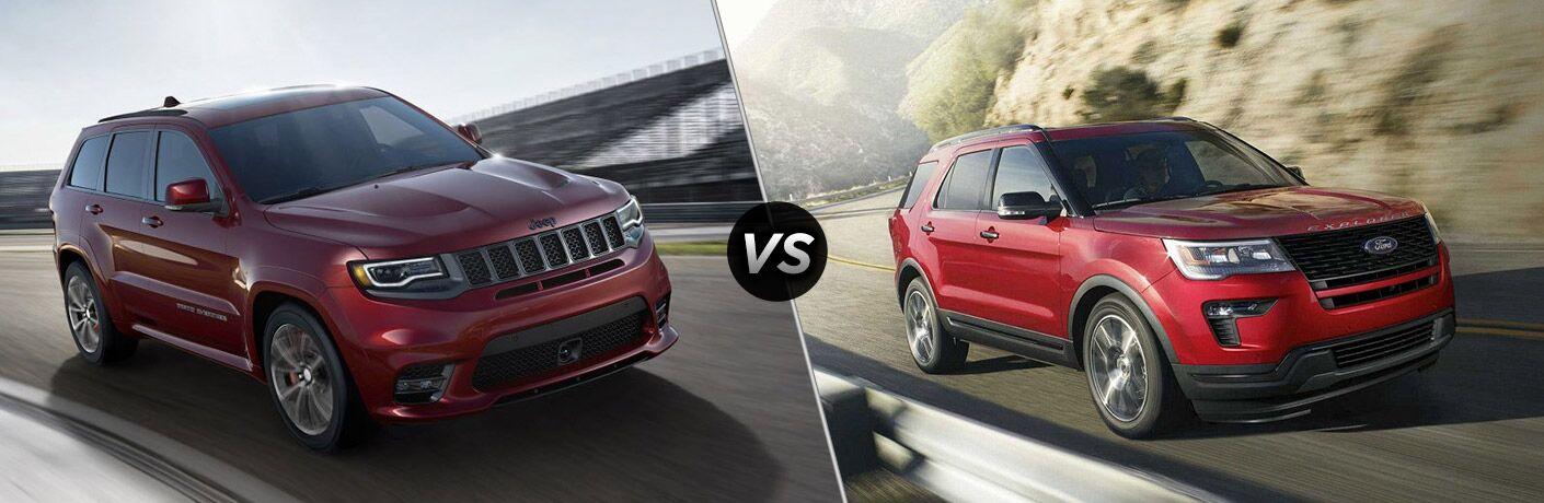 2018 Jeep Grand Cherokee vs 2018 Ford Explorer