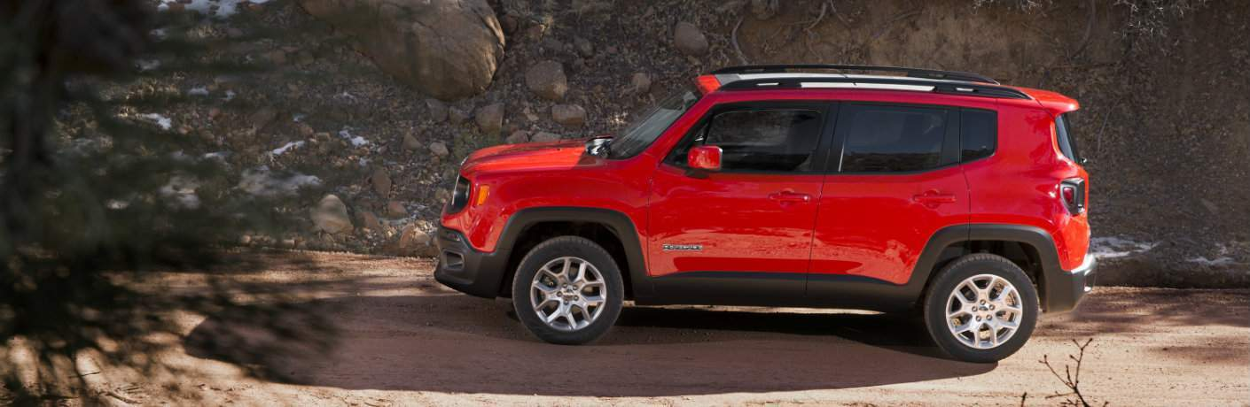 2018 jeep renegade colorado red off-road driving side view