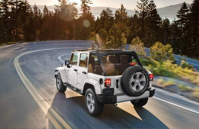2018 jeep wrangler jk rear view driving