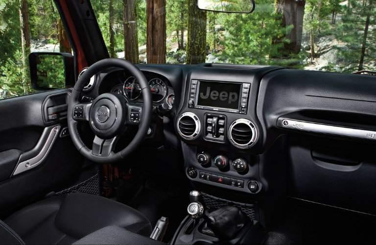 2018 jeep wrangler jk interior infotainment system