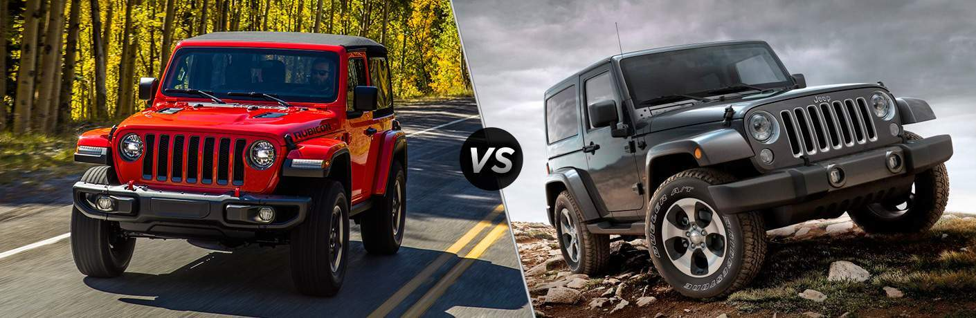 2018 jeep wrangler and 2017 jeep wrangler side by side