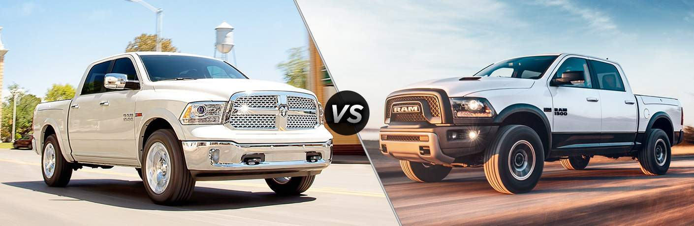 two versions of the 2018 RAM 1500 side by side