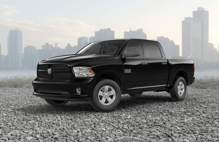 black 2018 RAM 1500 front side view