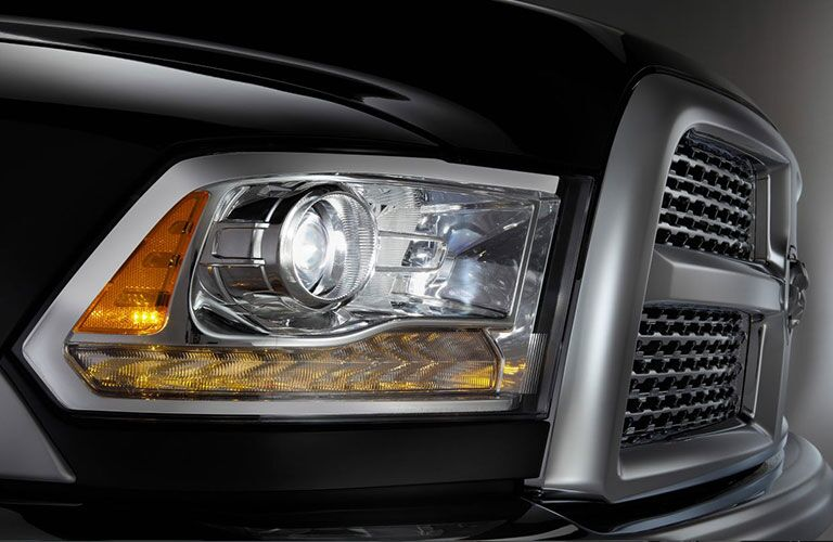 2018 Ram 2500 exterior front fascia close up of passenger side headlight