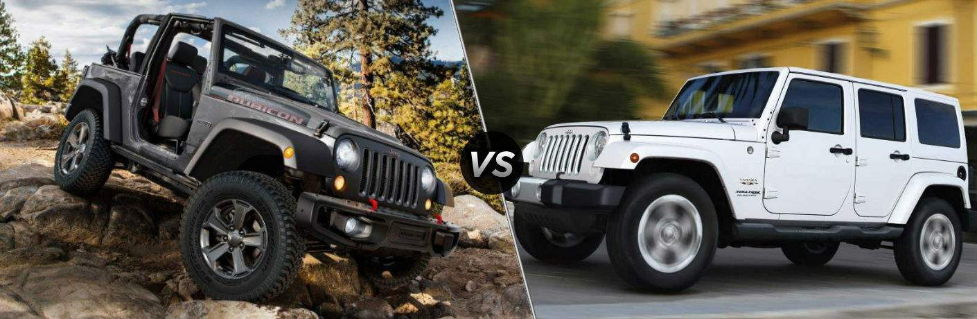 2018 jeep wrangler jk and 2018 jeep wrangler jk unlimited side by side