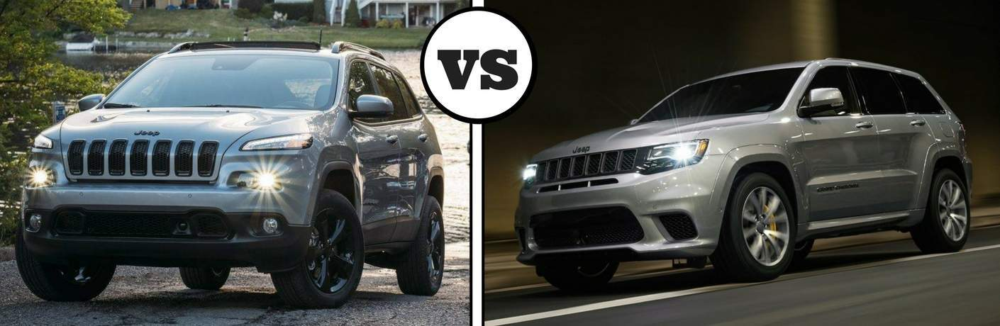 2018 jeep cherokee and 2018 jeep grand cherokee side by side