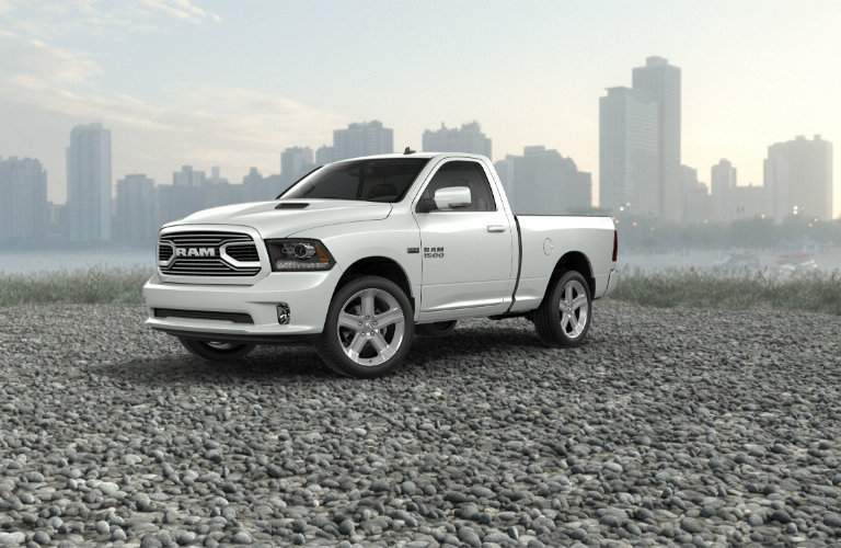 2018 ram 1500 sport parked full view