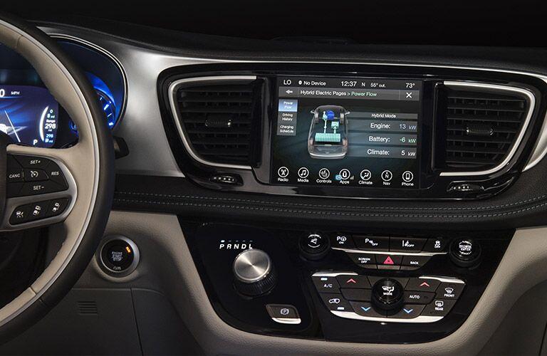 2019 Chrysler Pacifica Hybrid dashboard