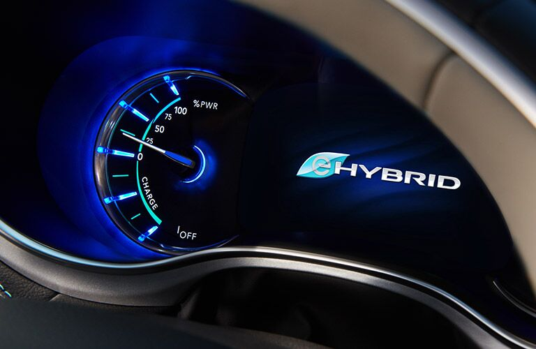 2019 Chrysler Pacifica Hybrid speedometer close-up