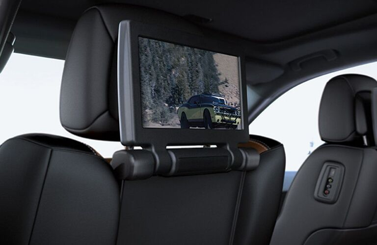 screen on back of front seat in 2019 Dodge Durango