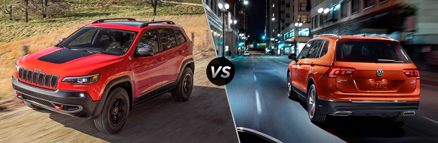 2019 Jeep Cherokee vs 2018 Volkswagen Tiguan