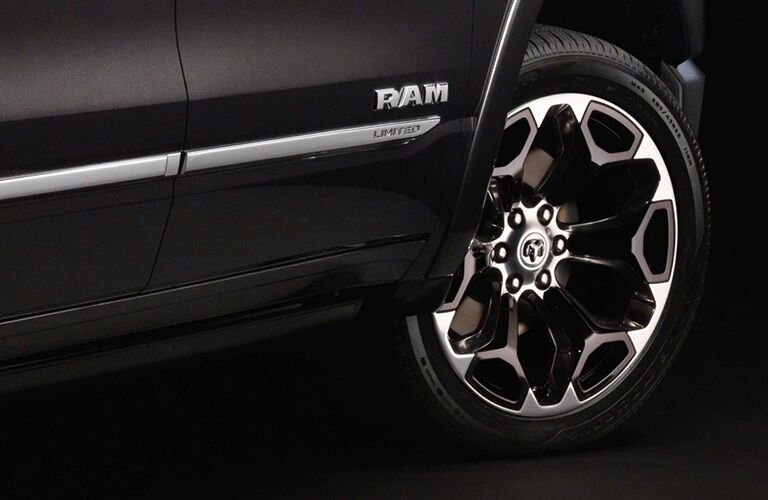 2019 Ram 1500 close-up on wheel