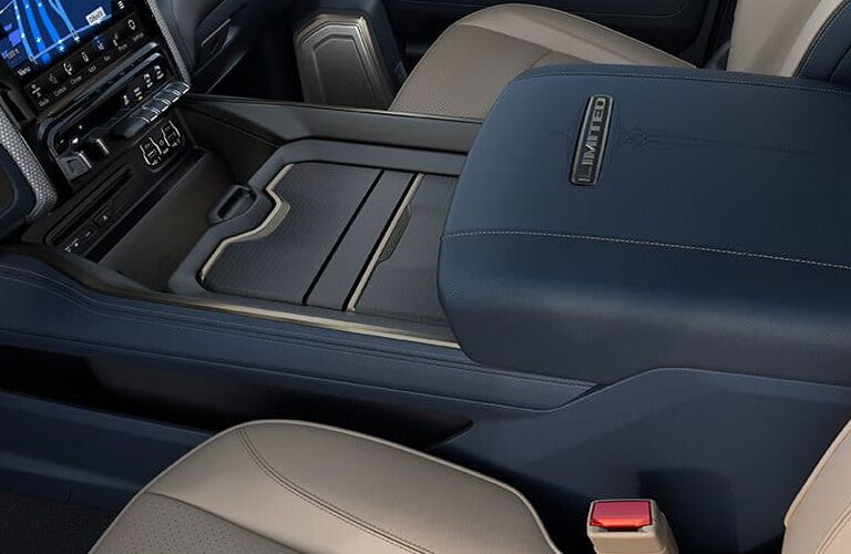 2019 Ram 2500 center console and armrest