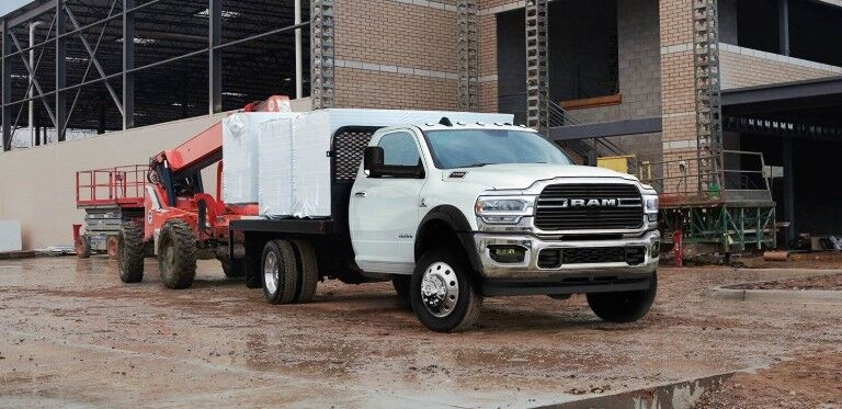 2019 Ram 5500 Chassis parked outside building