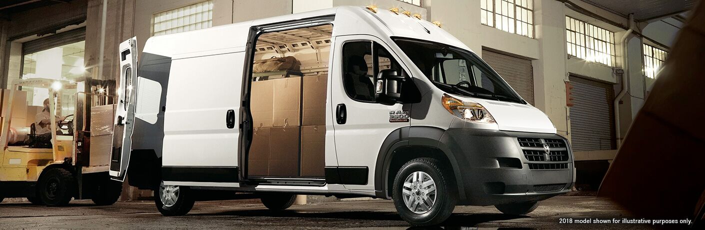 doors open on right side of white ram promaster