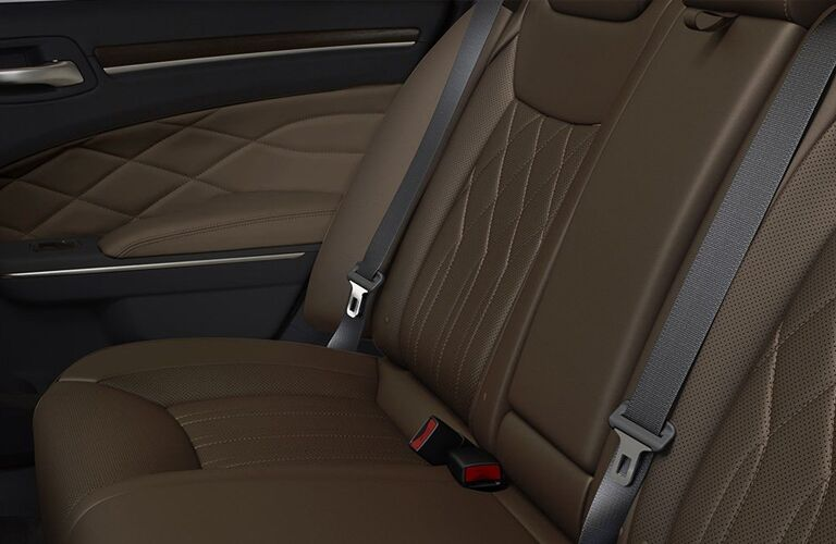 2020 Chrysler 300 interior close up of seat leather