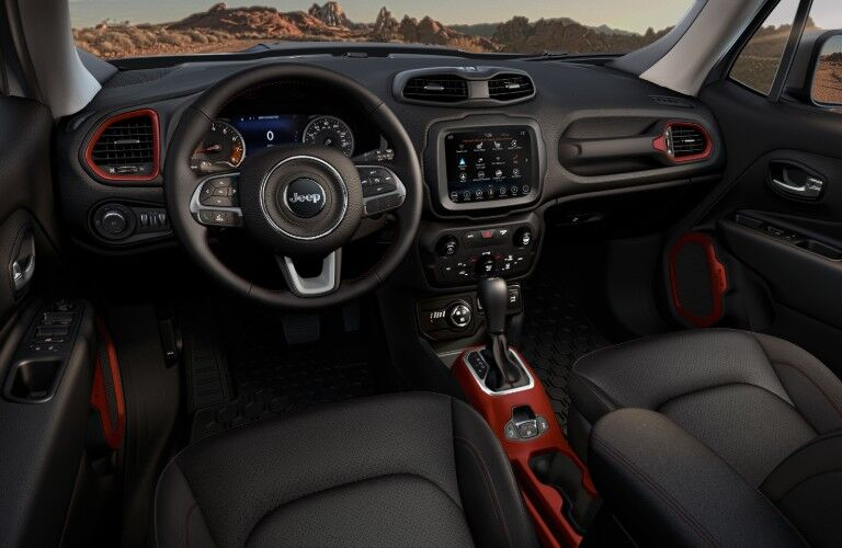 dashboard of 2020 Jeep Renegade