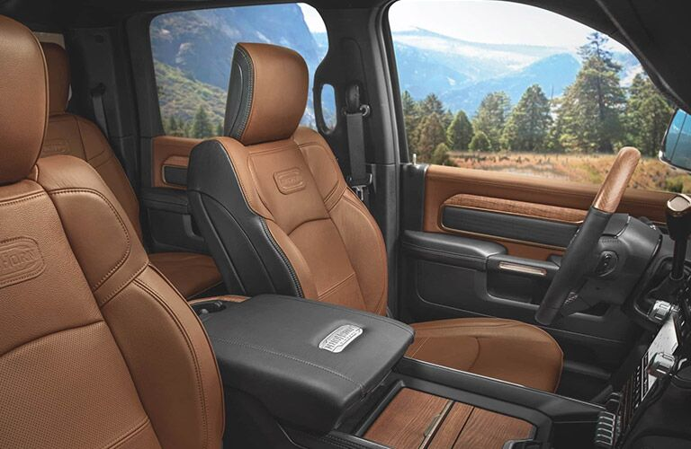2020 Ram 2500 interior brown leather laramie longhorn