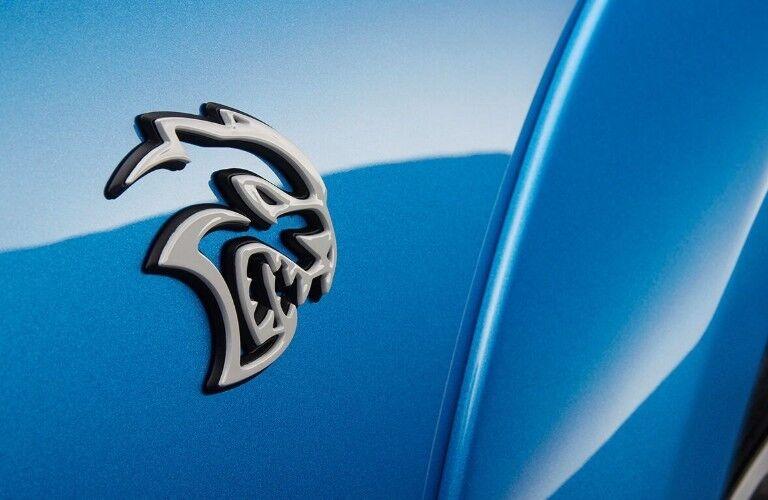 2020 Dodge Charger logo on passenger side door