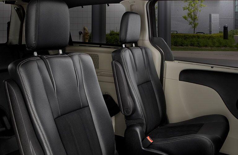 2020 Dodge Grand Caravan Interior showing leather seats upright