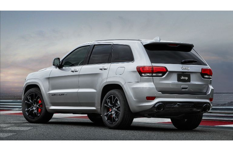 2020 Jeep Grand Cherokee SRT exterior facing away at an angle to the left