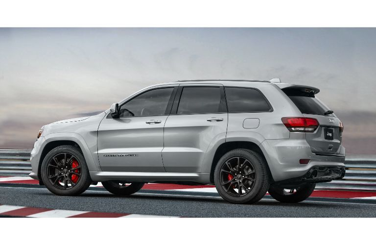 2020 Jeep Grand Cherokee SRT facing left profile view