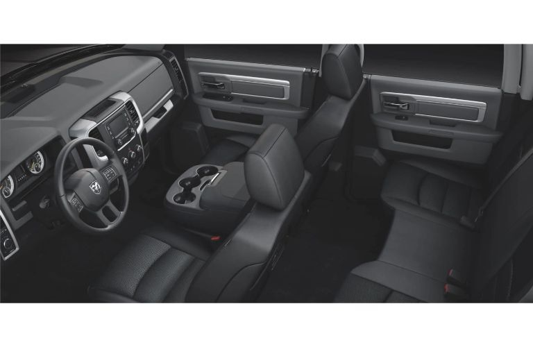 2020 RAM 1500 Classic interior front cabin view from overhead