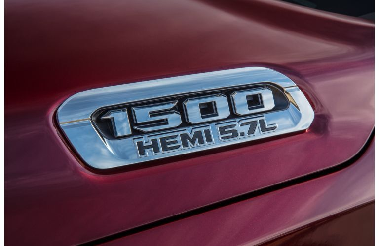 2020 RAM 1500 Limited exterior red hemi logo close up
