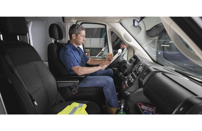 2020 RAM ProMaster Van interior man in driver seat empty passenger