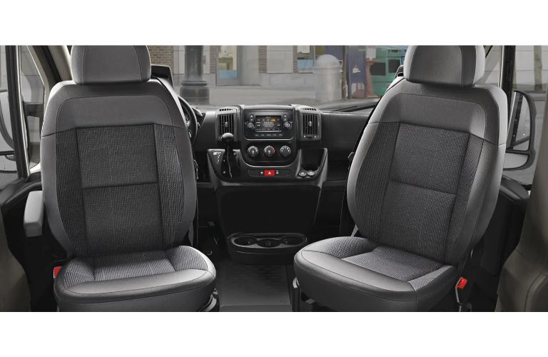 2020 RAM ProMaster interior swivel front chairs
