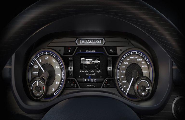 2020 Ram 2500 interior dials through steering wheel