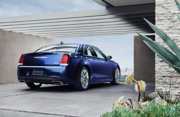 blue 2020 Chrysler 300 in driveway
