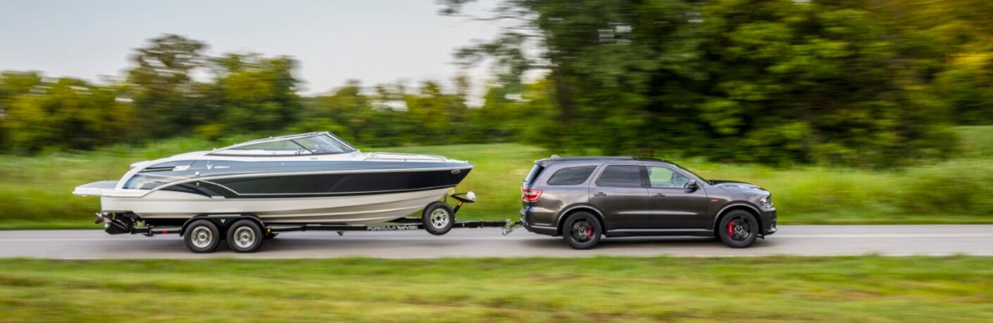 2020 Dodge Durango towing a boat