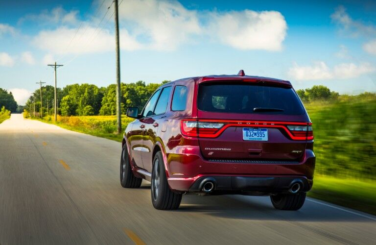 rear of 2020 Dodge Durango