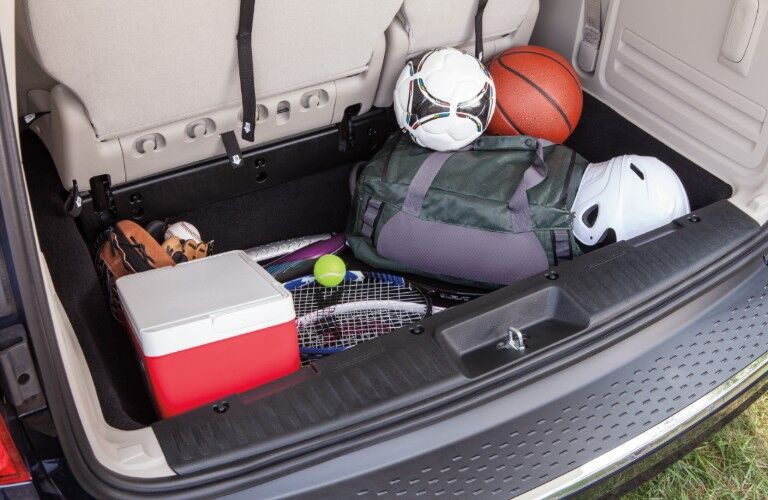 Rear cargo area of 2020 Dodge Grand Caravan