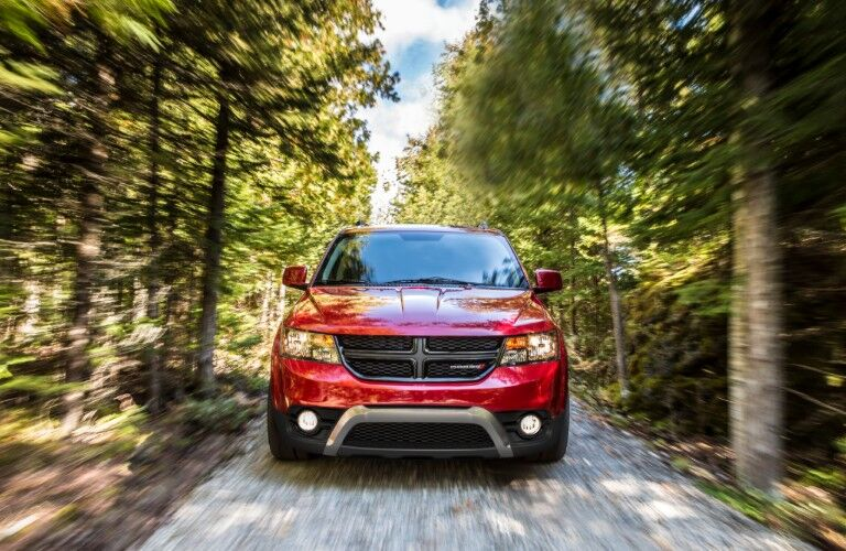 front of red 2020 Dodge Journey