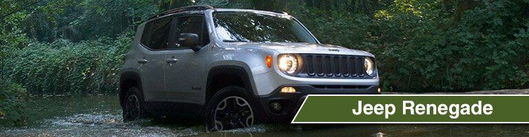 2018 Jeep Renegade going through a river