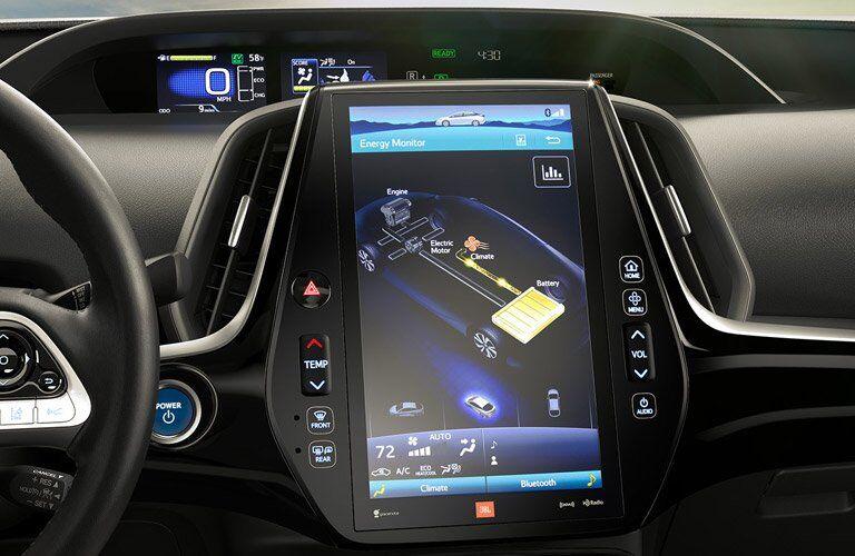 2017 Toyota Prius Prime First row touchscreen measurements