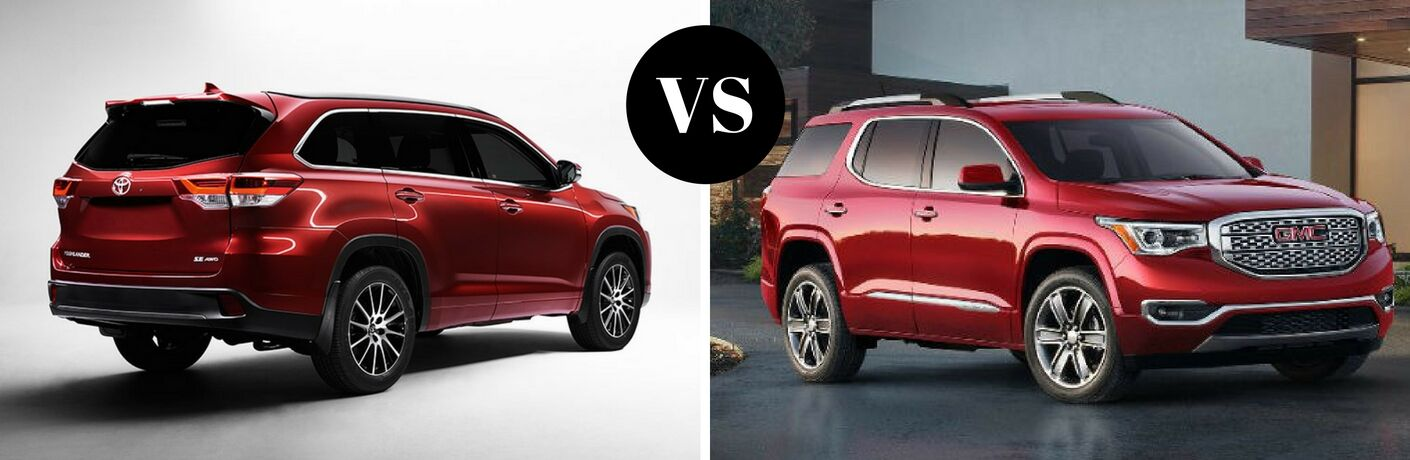 2017 Toyota Highlander vs 2017 GMC Acadia