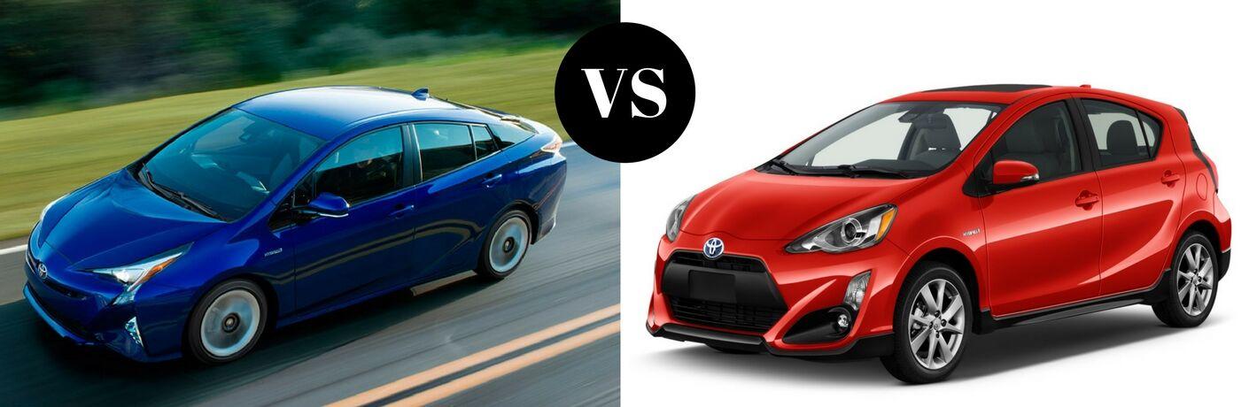 2017 Toyota Prius vs 2017 Toyota Prius C