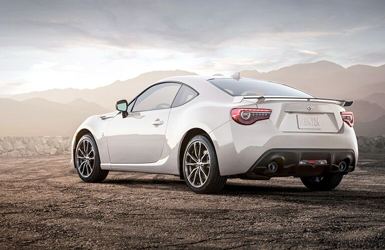 white 2019 Toyota 86 rear side view